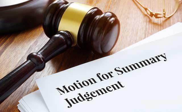 summary judgement jury trial